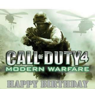 Call of Duty Edible Cake Image Topper 1/4 Sheet Cake