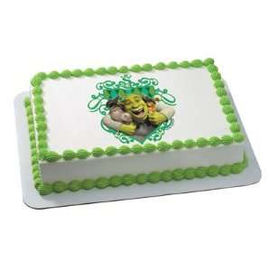 Shrek Donkey Cat Edible Cake Image Birthday Party