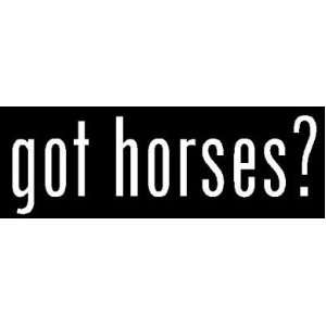 8 White Vinyl Die Cut Got horses? Decal Sticker for Any