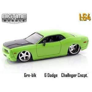 Mean Green 2006 Dodge Challenger Concept 164 Scale Die Cast Car Toys
