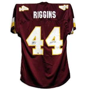 John Riggins Autographed Custom Jersey with HOF