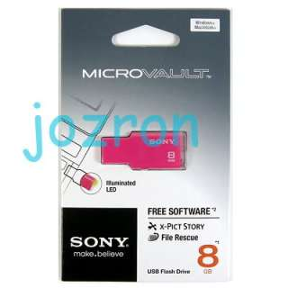 Sony Microvault USM M 8GB 8G USB Flash Drive Pen Pink