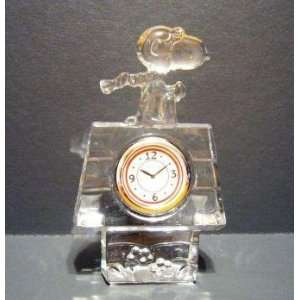 Waterford Marquis Peanuts Snoopy Flying Ace Clock