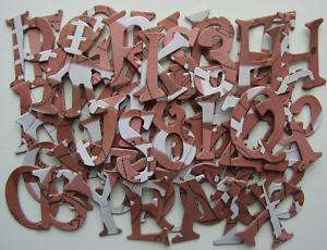 Sandylion *FOOTBALL* Sport Chipboard Alphabet Letters