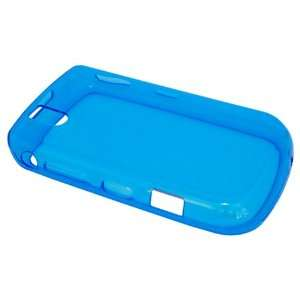 Crystal Clear Blue Soft Rubberized Plastic Skin Case for