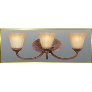 Iron Wall Sconce, JB 7369, 4 lights, Oxide Brass, 26 wide X 9 high