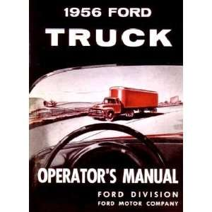 1956 FORD TRUCK Full Line Owners Manual User Guide Automotive