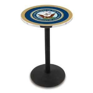 36 US Navy Counter Height Pub Table   Round Base