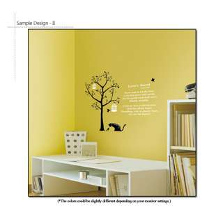 POEM & TREE ★ WALL DECOR DECALS STICKER REMOVABLE VINYL