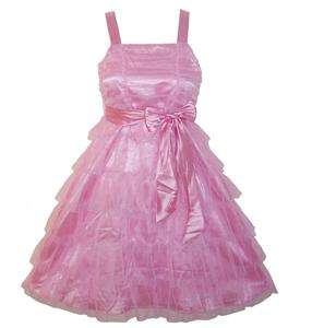 NWT**SWEETHEART ROSE**PINK TULLE TIER DRESS**GIRLS~SZ12