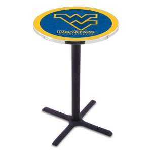 West Virginia Bar Height Pub Table   Cross Legs   NCAA