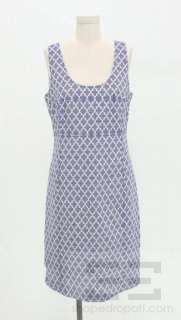 Burch Blue & White Cotton Sleeveless Scoop Neck Dress Size 8