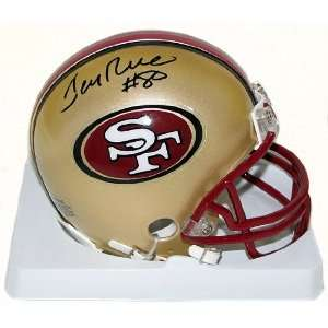 Jerry Rice Autographed San Francisco 49ers Riddell Mini