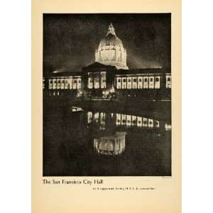 1930 Print San Francisco City Hall NELA Convention CA