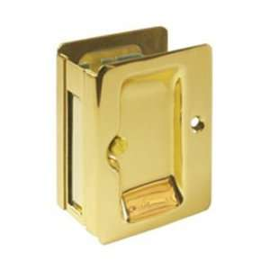 Chrome Heavy Duty Pocket Door Locks 3 1/4 x 2 1/4 Solid Brass Heavy