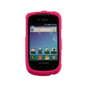 Solid Rubberized Plastic Phone Protector Cover Case Pink For Samsung