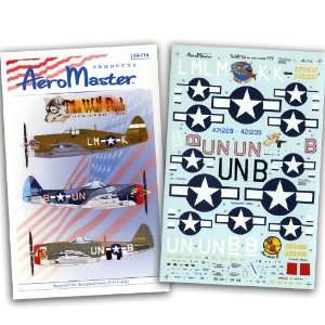 P 47 Wolf Pack #5 56 Fighter Group (1/48 decals) Toys & Games