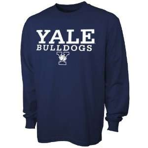 Bulldogs Navy Blue Big Time Long Sleeve T shirt
