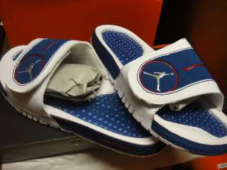 Nike Jordan Hydro IV Blue White Red Sandals Sneakers 15