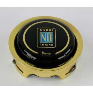 Nardi Gold Steering Wheel Horn Button   Single Contact   Fits Nardi