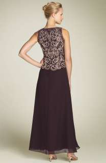 Mock Two Piece Chiffon Gown Brown/Champagne/Copper Size 16P
