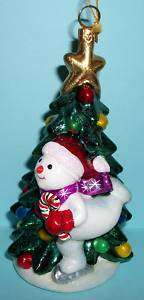 Kurt Adler Polonaise Ornament Christmas Tree Snowman