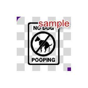 RANDOM NO DOG POOING 11 WHITE VINYL DECAL STICKER