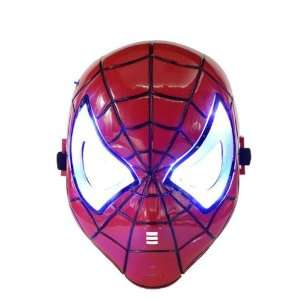 Spiderman Blue LED Flash Light Eyes Magic Mask Toys & Games