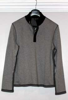 NWT Hugo Boss Black Label Piceno 17 Gray Mock Collar Pullover