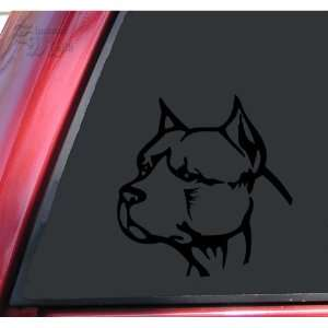 Pit Bull Pitbull Head #2 Vinyl Decal Sticker   Black