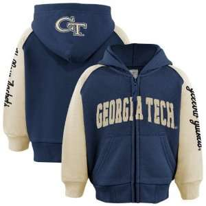 Yellow Jackets Toddler Navy Blue Gold Solo Full Zip Hoody Sweatshirt
