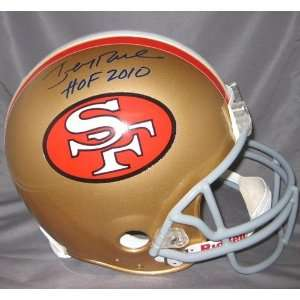Jerry Rice Signed San Francisco 49ers Helmet W/hof 2010