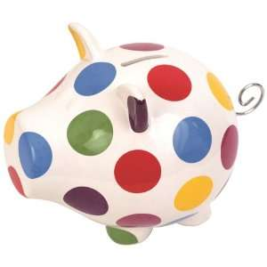 Salt&Pepper OINK SMALL POLKA DOT MONEY BOX
