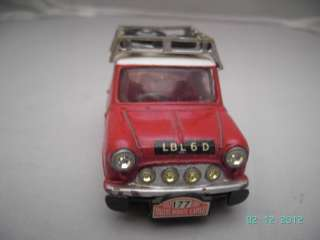 GOOD 1960s CORGI TOYS AUSTIN MORRIS BMC MINI COOPER RALLY CAR DIE CAST