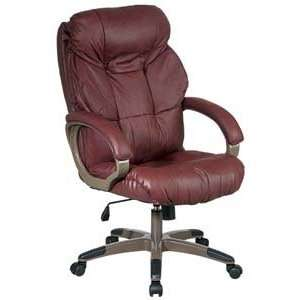 Executive Glove Soft Leather Chair with Padded Loop Arms