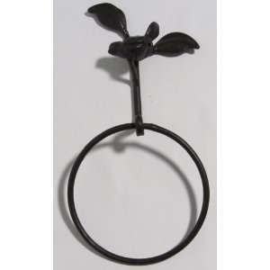 Majestic Rustic Cast Iron Metal Bird Towel Ring