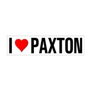 I Heart Love Paxton   Window Bumper Sticker Automotive