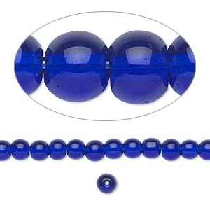 #5405 4mm round glass beads, cobalt blue   50 beads Arts