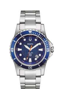 Bulova Mans Marine Star Collection Blue Dial Watch