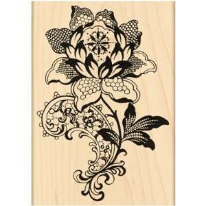 Penny Black Rubber Stamp 3X4.25 Lace Flower Arts