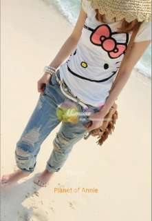 Cute Hello Kitty women girl top shirt Tee dress tank