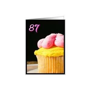 Happy 87th Birthday Muffin Card Toys & Games