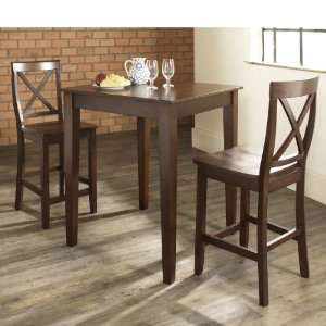 Crosley Furniture KD320005MA   3 Piece Pub Dining Set with Tapered Leg
