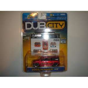 2004 Jada Dub City 164 Scale 2003 Hummer H2 Fire Dept