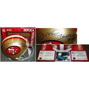 Joe Montana Jerry Rice Signed 49ers Rep Helmet Sports