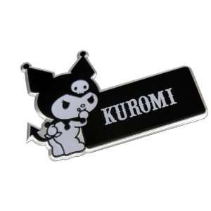Kuromi Hello Kitty Black White Aluminum Car Emblem Badge