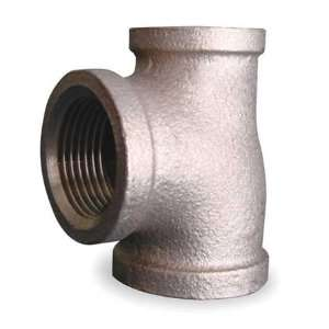Red Brass Fittings Class 125 Reducing Tee,1 x 3/4 x 1 In,Red Brass