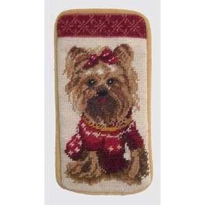 Yorkie (Yorkshire Terrier) Needlepoint Eyeglass Case