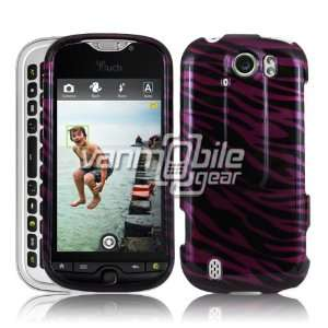 VMG Magenta Pink Black Zebra Stripes Design Hard 2 Pc Snap