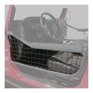 Door Netting, Pair, Black Olympic 1976 2006 Jeep Wrangler JK, TJ